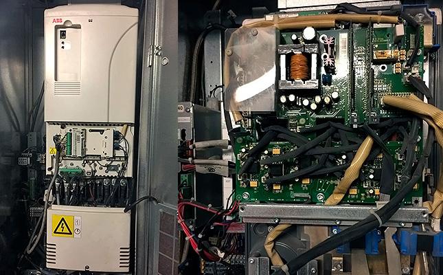 Техническое обслуживание ПЧ скоростных лифтов Kone